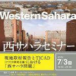 西サハラセミナー:現地取材報告とTICAD(アフリカ開発会議)における「西サハラ問題」